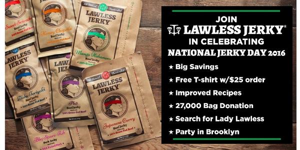 lawless jerky national jerky day