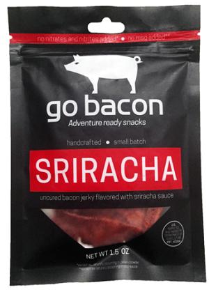 bacon jerky - go bacon Sriracha